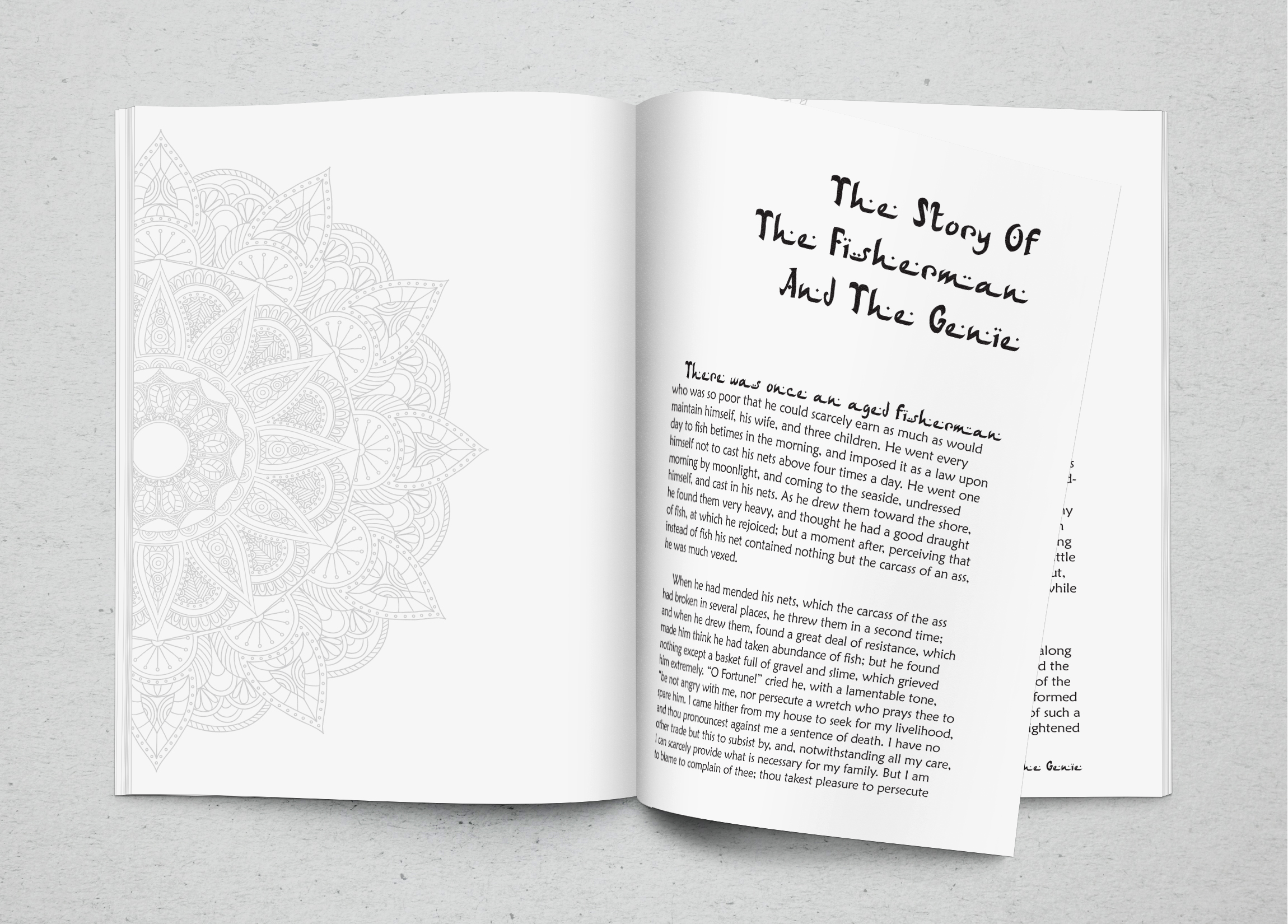 graphic design book interior typesetting