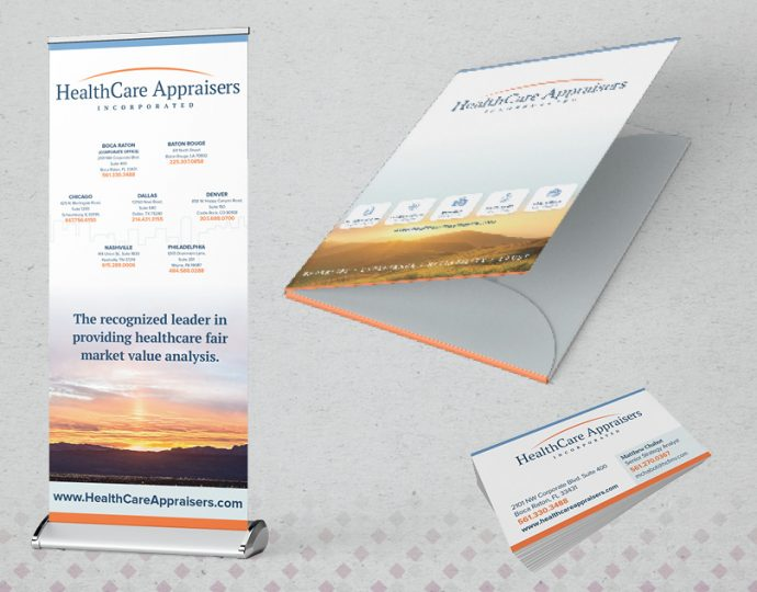 picture of a banner, folder and business cards designed by Lakazdi