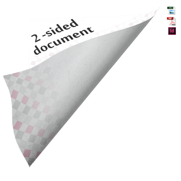 two sided, 2-side, double sided brochure sales sheet information prospectus two pager