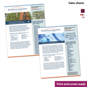 two-sided document, 2-side, double sided brochure sales sheet information prospectus two pager