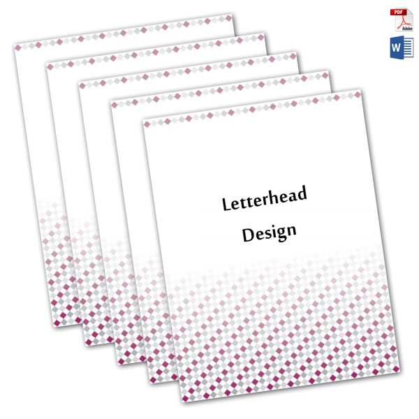 letterhead design for your company, print and digital, word and PDF format