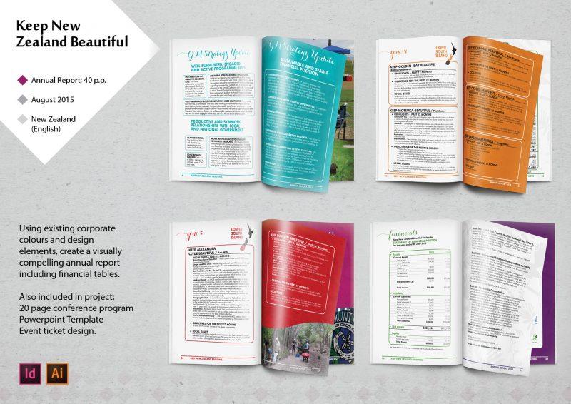 lakazdi graphic designer sample of work portfolio annual report keep new zealand beautiful indesign illustrator