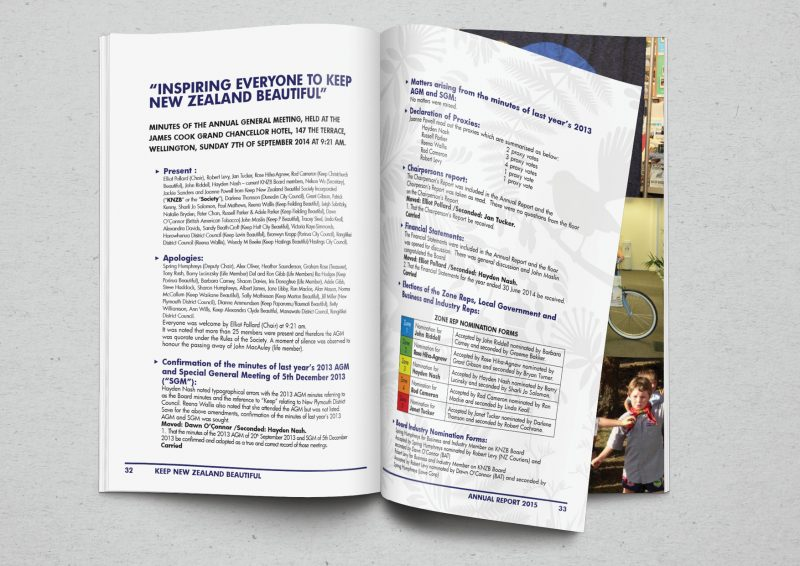 annual report design by professional graphic designer Lakazdi for conference full of financial information and tables