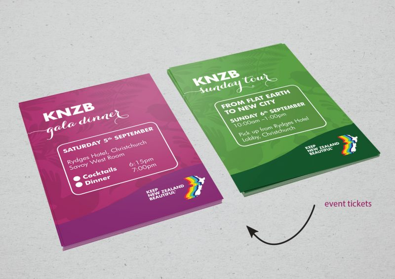 event ticket design for two tickets required for annual conference as part of a larger package of business documents for marketing and legal reasons