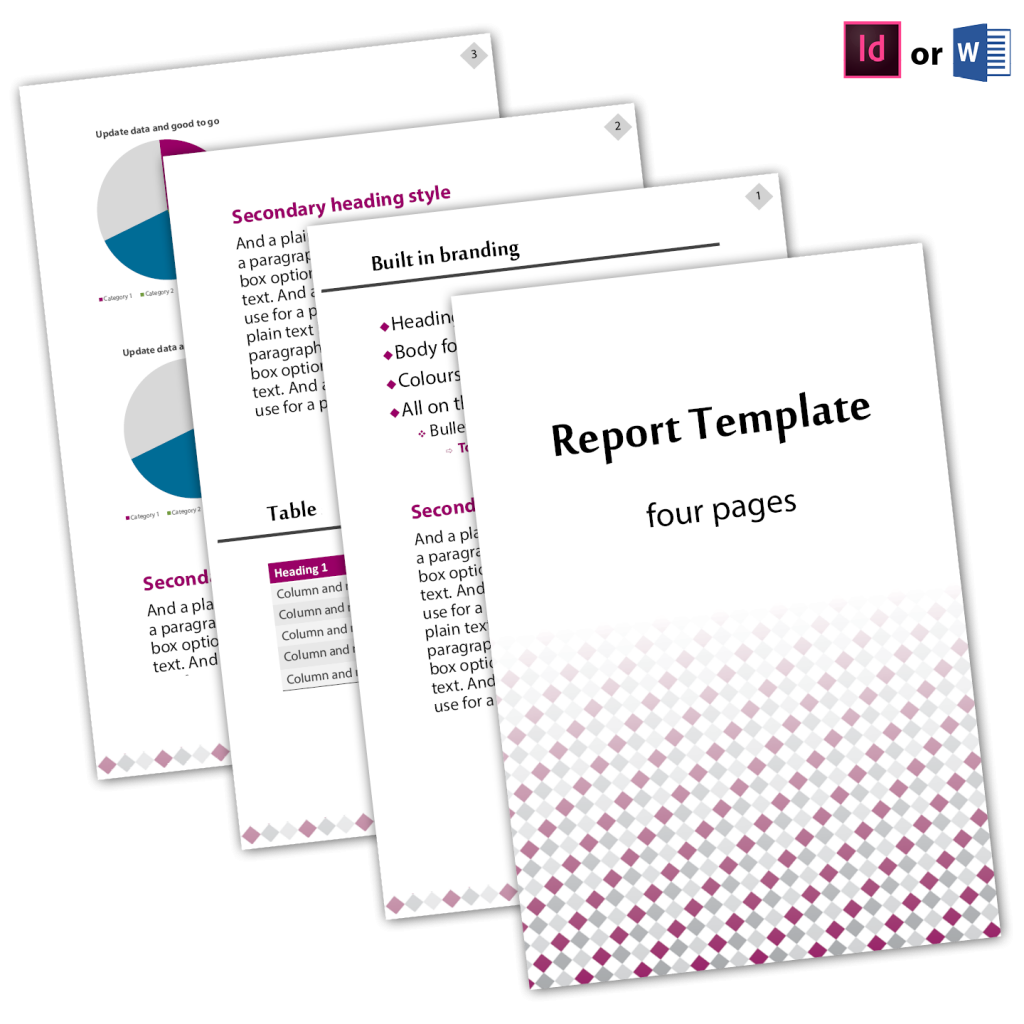 report design for businesses includes all styles, heading, font, colour, logo, bullets, table, chart all built in, super easy to use and install on any PC. Choose between indesign or word template. Includes one-click to update table of contents. All custom designed by professional graphic designer. Lakazdi Kassandra Bowers from Brisbane Australia.