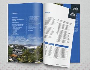 behance portfolio sample of work for graphic designer Kassandra Bowers Lakazdi magazine style booklet