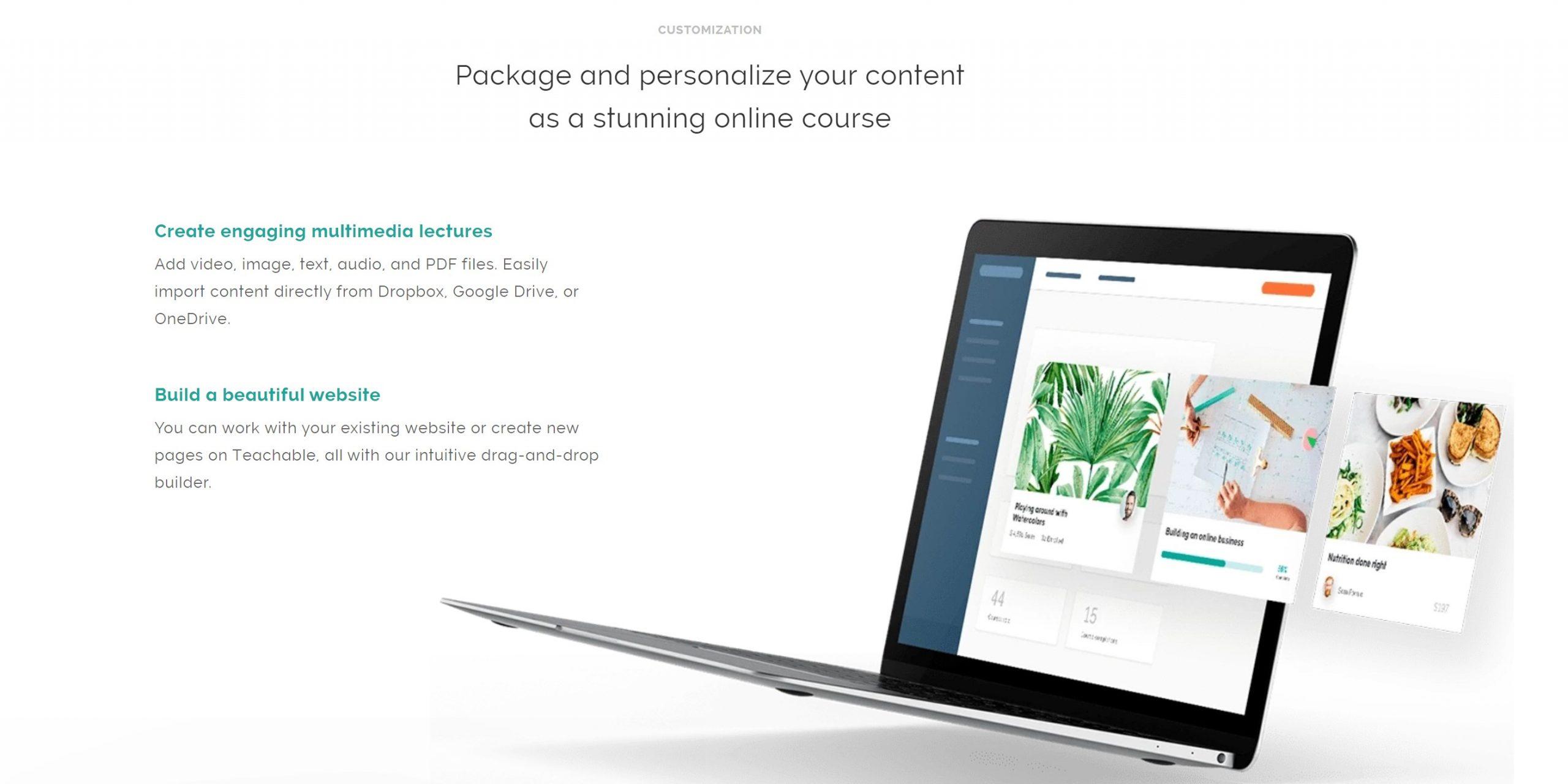 teachable sell courses online create