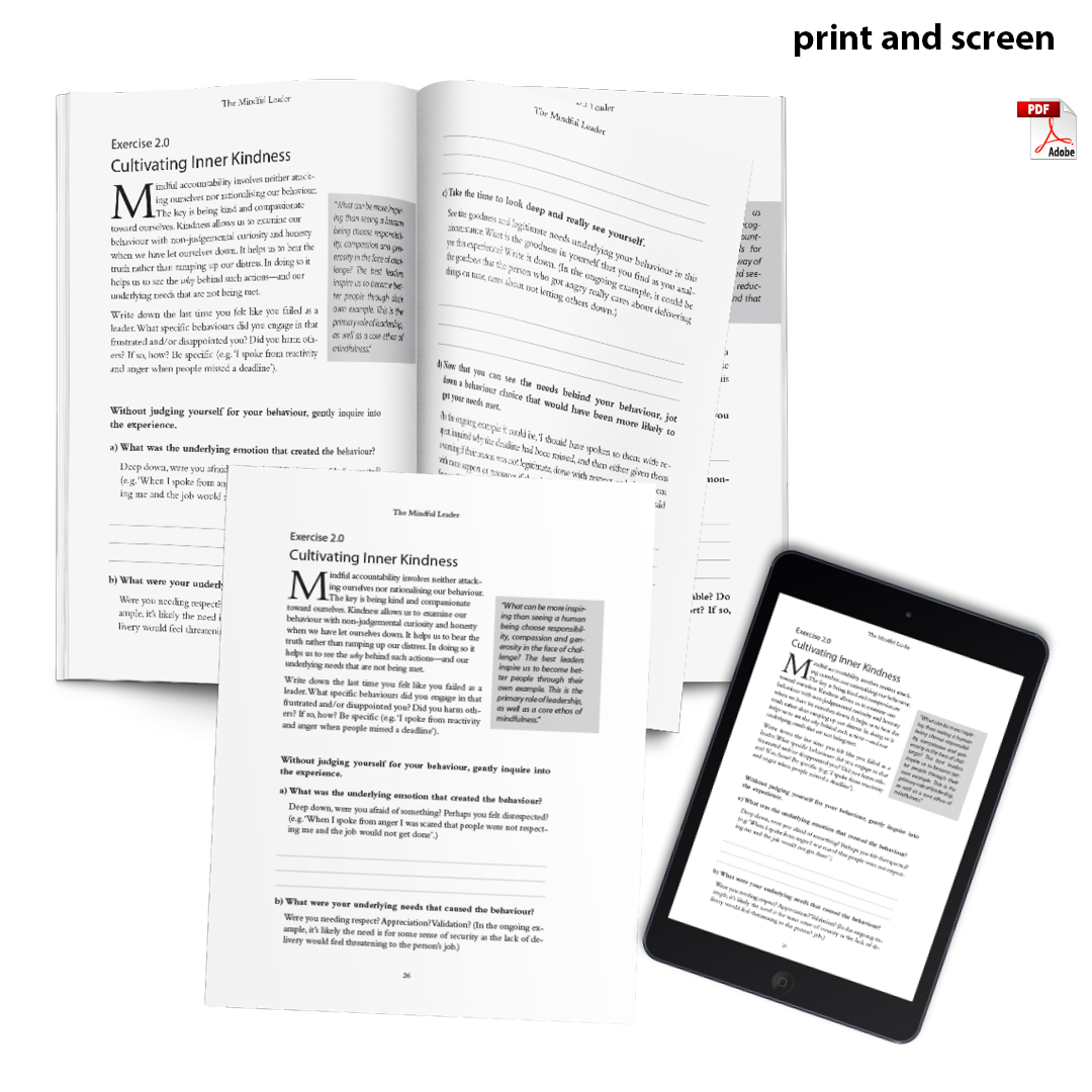 workbook for mindful leader book what is both print and electronic