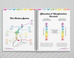 chakra workbook design made for yoga retreats Graphic Designer Kassandra Bowers Lakazdi