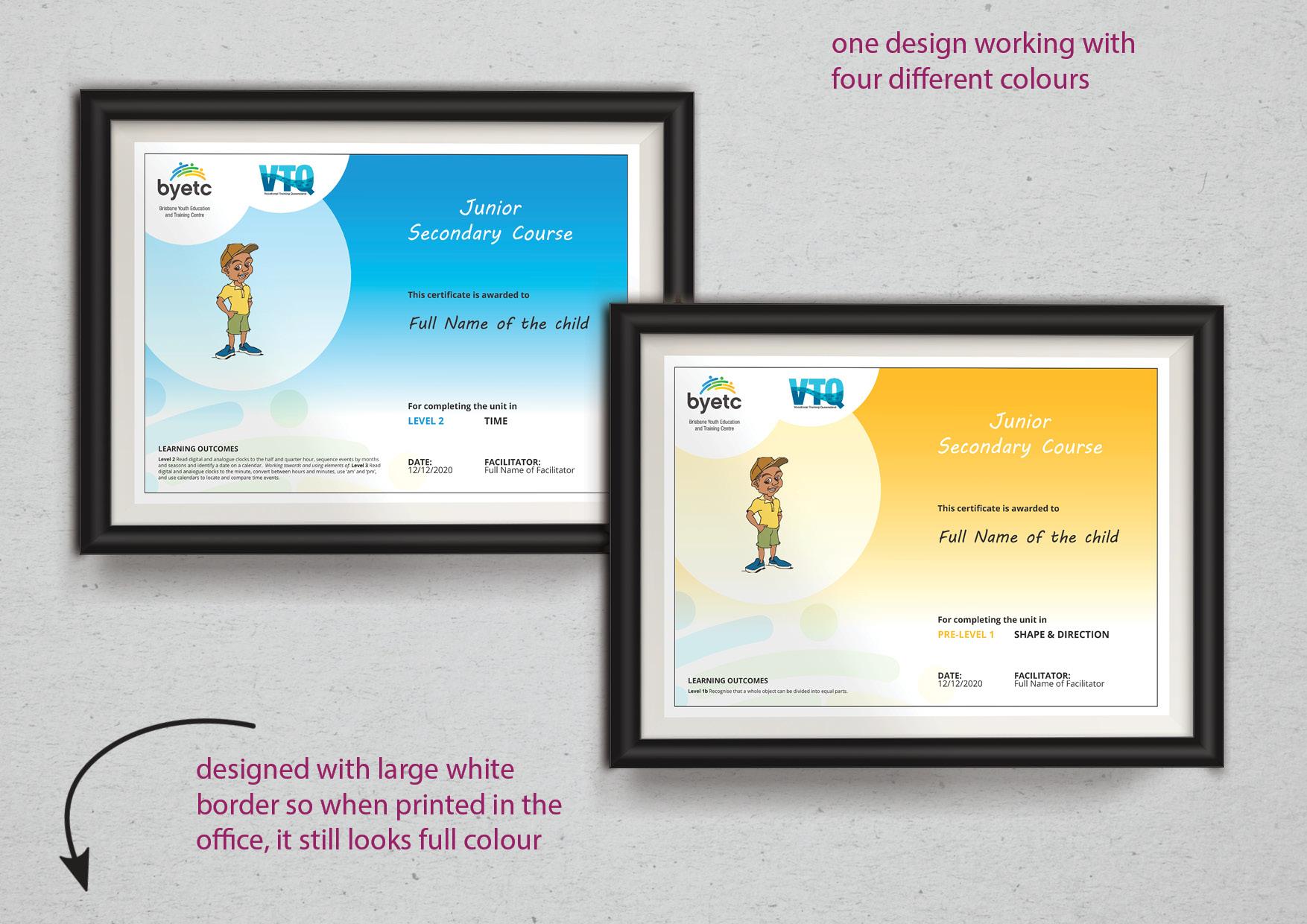Mail merge certificate design by Kassandra Bowers Lakazdi Brisbane Australia