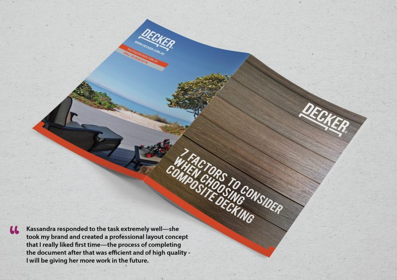 product brochure design. Used for both printing and for electronic sending through email. Graphic Designer: Kassandra Bowers Lakazdi from Brisbane Australia