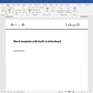 digital letterhead so you can export PDFs to email that are on brand