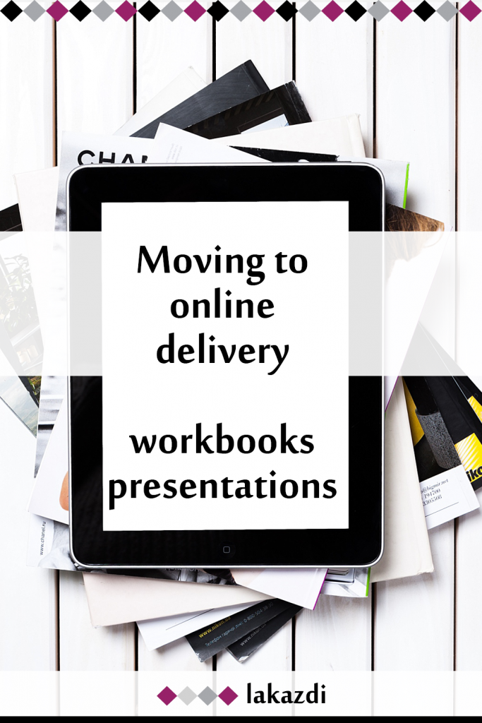 blog post cover image for moving to online delivery by Lakazdi