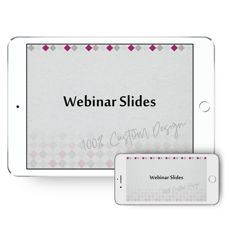 webinar design for slides to promote your business and create an automated sales funnel