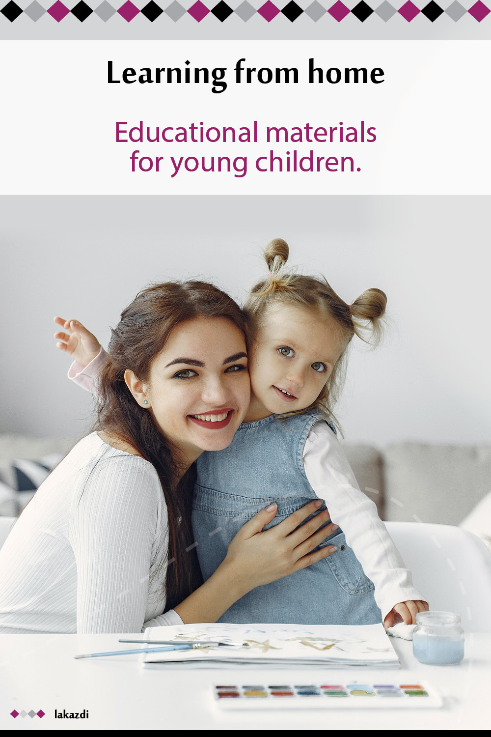 learning from home educational materials for young children