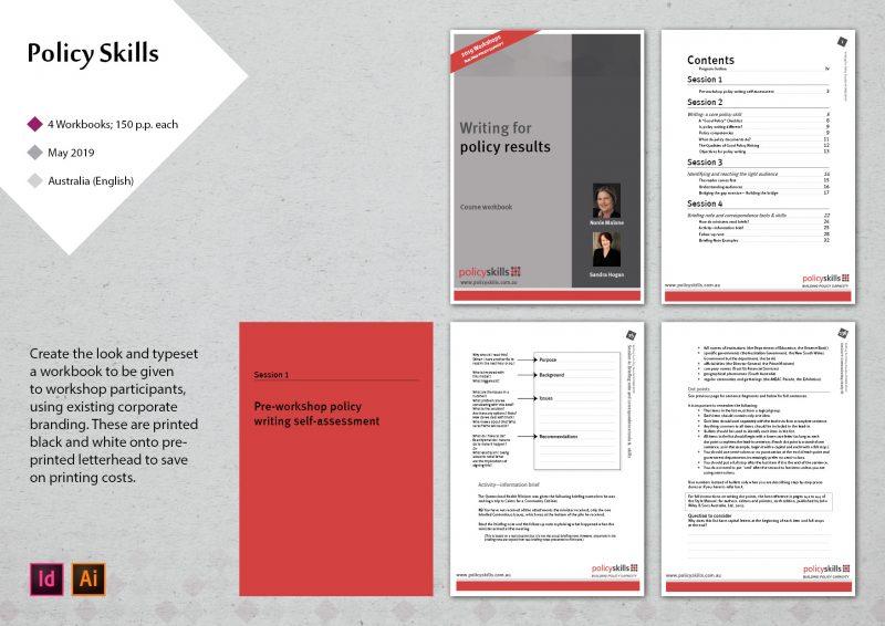 workbook design for a workshop