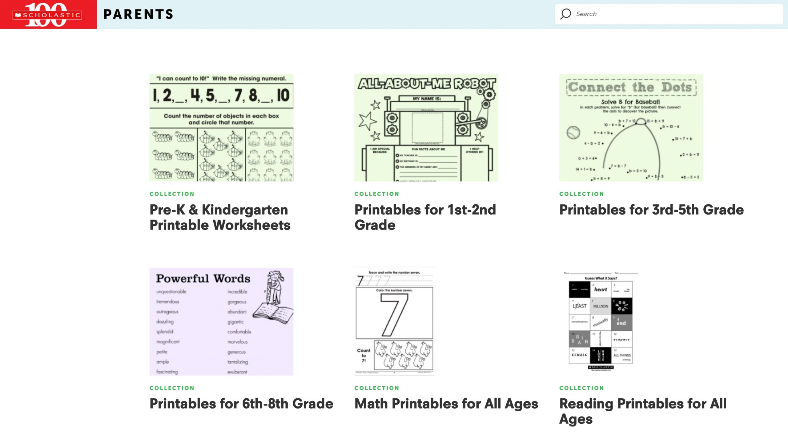 scholastic learning materials and workbook worksheets for children k-12 educational resources