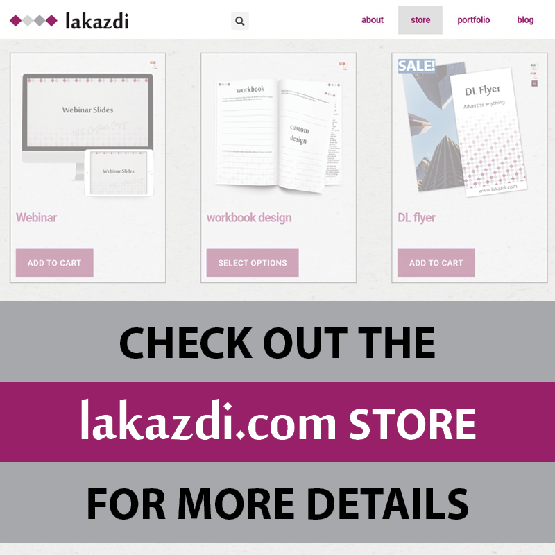 check out the lakazdi graphic design store
