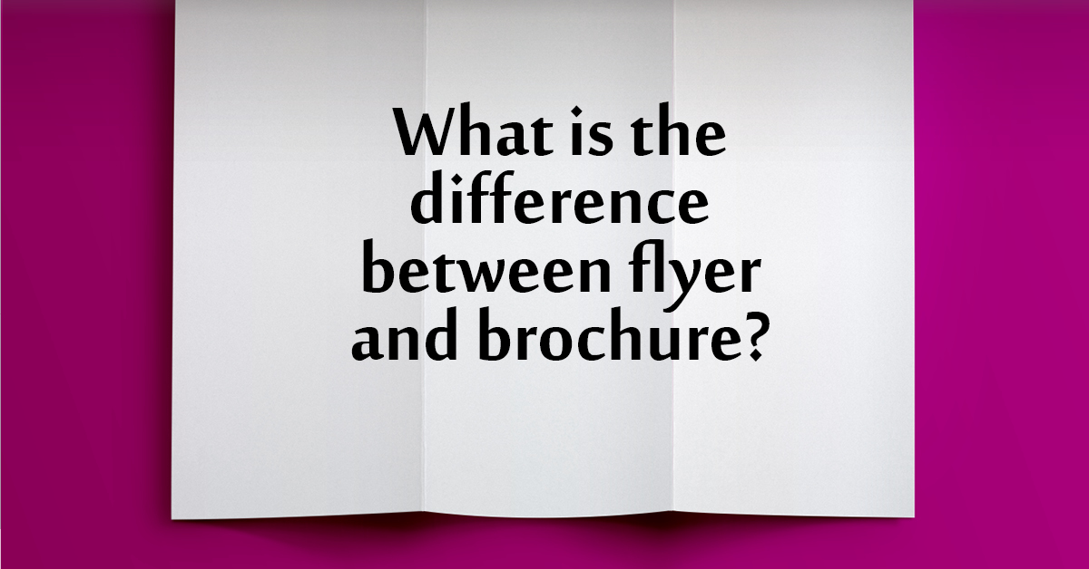 what is the difference between brochure and flyer? professional graphic design specialising in documents breaks it down with definition, visuals, ngram.