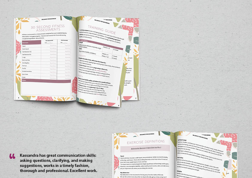 graphic design fillable pdf workbook design activity worksheet 12 week fitness program professional students education materials