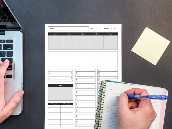 Printable // Tracker // Pen to Paper // Low Tech // pdf fillable printable easy simple to use minimalist design pen paper analogue tactile pocket month habit spending tracker budget meal planning to do list bullet journal get it done GTD project plan smart goals goal tracking who what where when why budget timeline